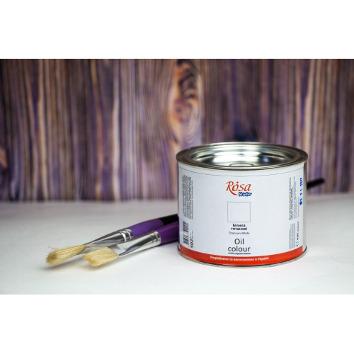 Фарба олійна Білила титанові 490мл ROSA Studio