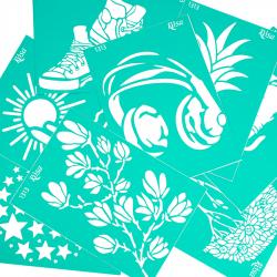 """Adhesive Stencil """"Floristics"""" А4 ROSA TALENT"""
