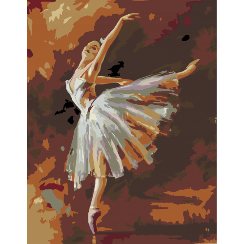 """The dancer bends"", standard Kit, painting by numbers, 35х45cm, ROSA START"