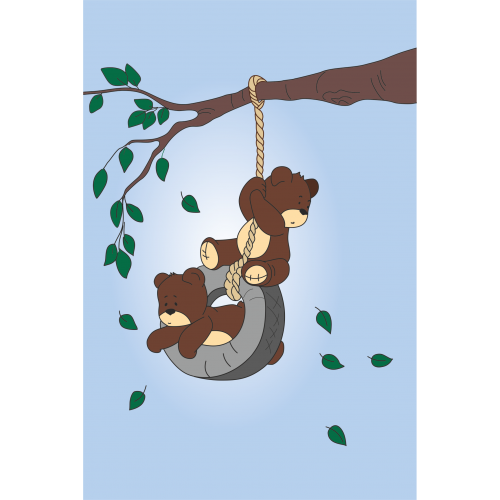 """""""Игривые медвежата"""", набор для юного художника """"Малювалка"""", 20х30 см, ROSA KIDS"""