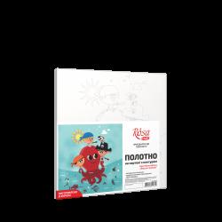 """""""Морские приключения"""", холст на картоне с контуром, 20х20, хлопок, акрил, ROSA START"""
