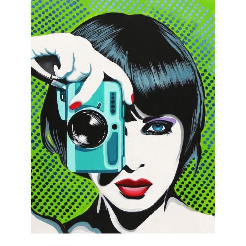 """Paparazzi"", Canvas Panel with outline, 30х40, cotton, acrylic, ROSA START"
