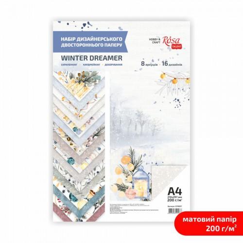 """Matt paper double-sided """"Design paper"""" 21х29,7cm 200g/m2 ROSA TALENT"""