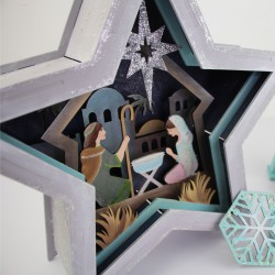 """Sets of workpieces on the """"Winter themes"""" plywood stand ROSA TALENT"""