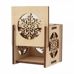 "Preparation ""Shishka"" of plywood 6.7х8.0 cm 4 pcs. ROSA TALENT"