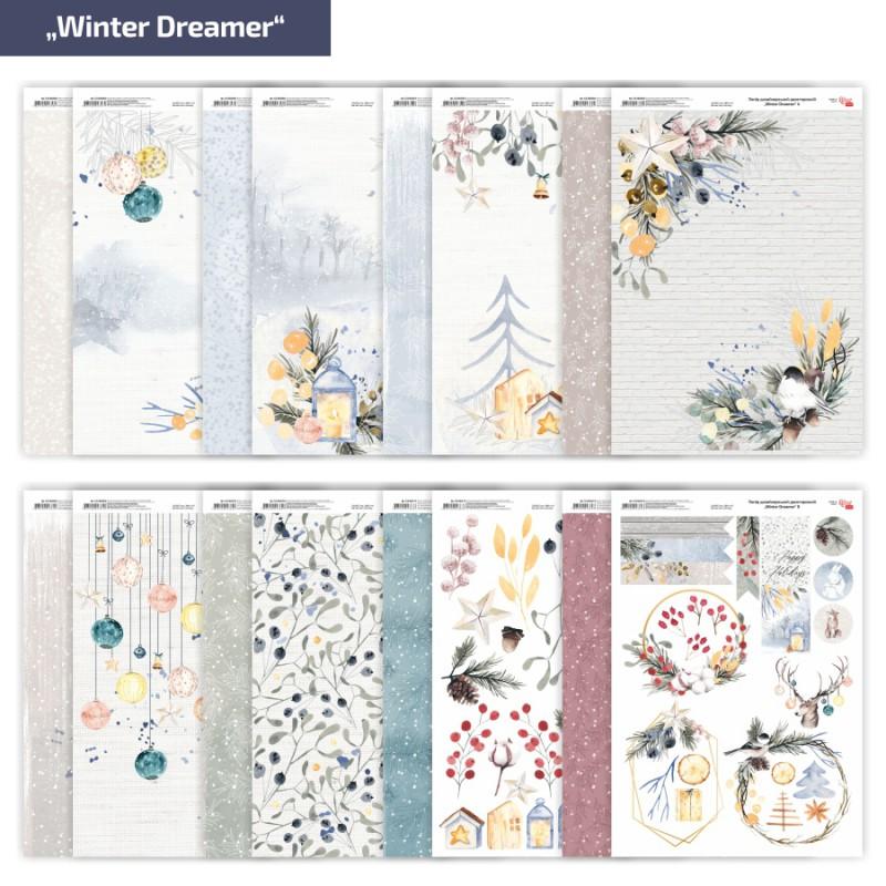 """Бумага матовая двустор. """"Winter Dreamer"""" 21х29,7см 200г/м² ROSA TALENT"""