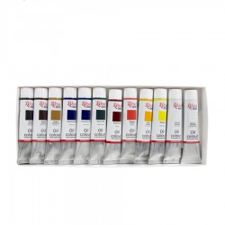 Oil paint set 12*20 ml, ROSA Studio
