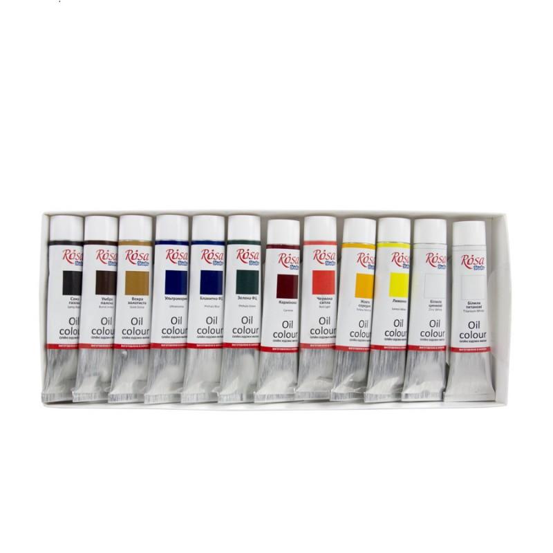 Oil paint set 12*20 ml, ROSA Studio