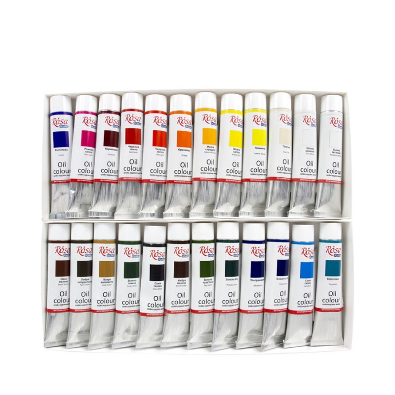 Oil paint set 24*20 ml, ROSA Studio