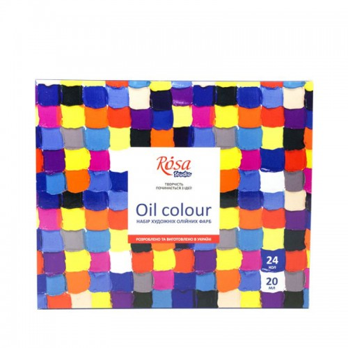 Набір олійних фарб 24х20мл ROSA Studio