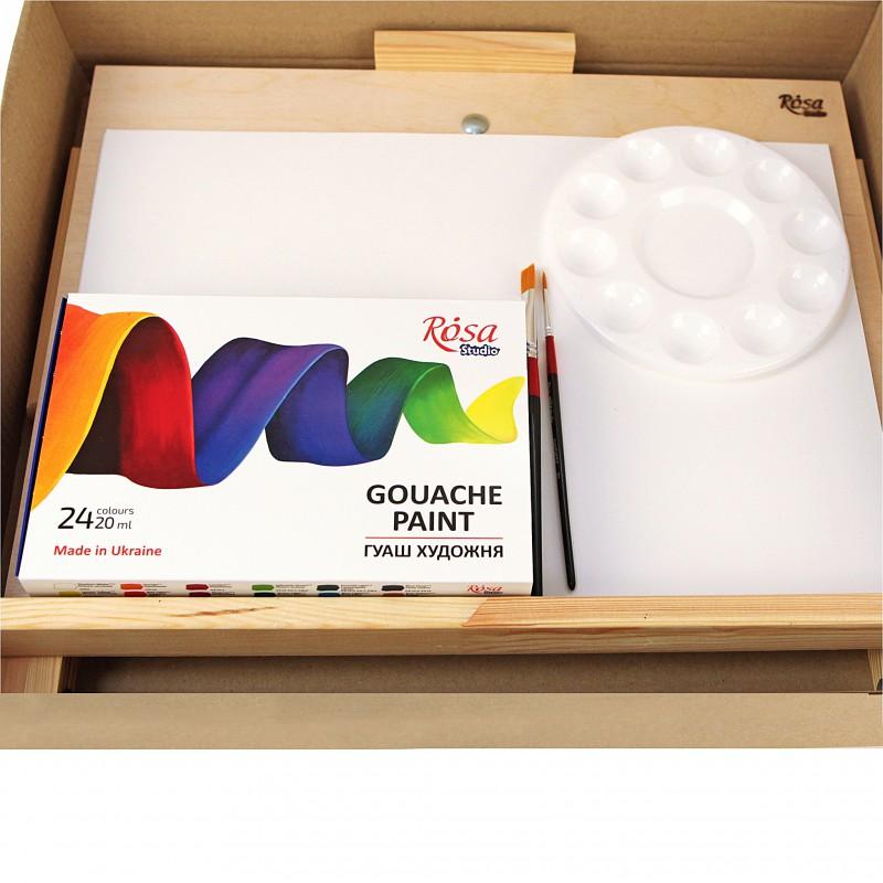 Наборы материалов для гуашевой живописи ROSA Studio