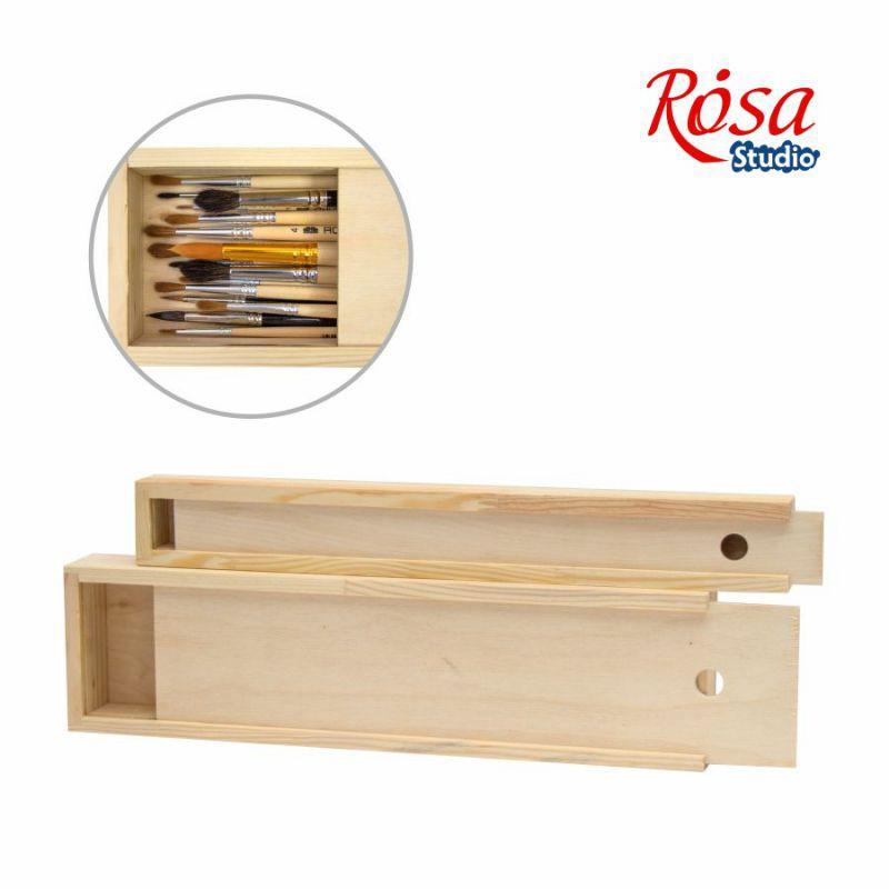 Пенал для пензлів дерев'яний ROSA Studio