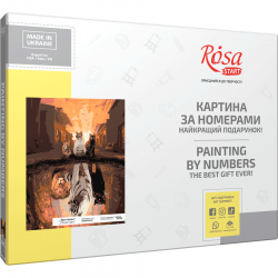 """Three Cats"", kit, painting by numbers, 35х45cm, ROSA START"