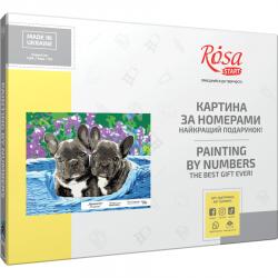 """Рuppies"", kit, painting by numbers, 35х45cm, ROSA START"