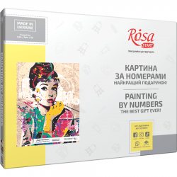"""Audrey Hepburn"", kit, painting by numbers, 35х45cm, ROSA START"