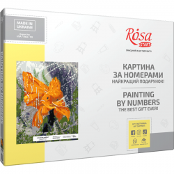 """""""Gold Fish"""", kit, painting by numbers, 35х45cm, ROSA START"""