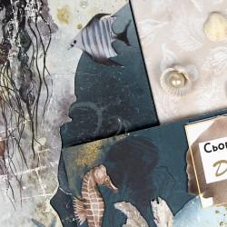 "Бумага дизайнерська двостор.  ""Ocean Dreams""  200г/м2 ROSA TALENT"
