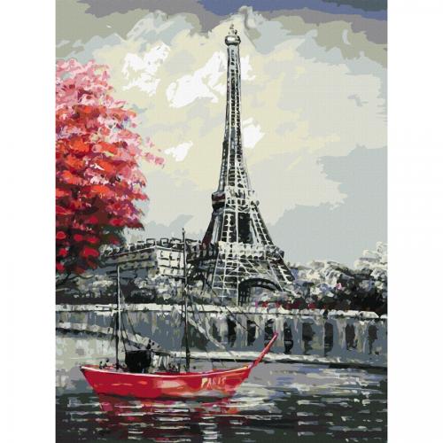 """Міста, """"Париж 3"""", полотно на картоні з контуром, 30х40, бавовна, акрил, ROSA START"""