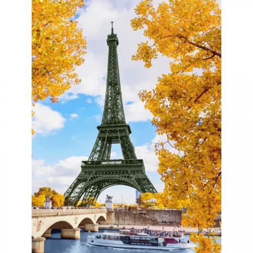 """Міста, """"Париж 6"""", полотно на картоні з контуром, 30х40, бавовна, акрил, ROSA START"""