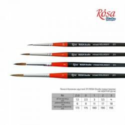 Kolinsky Round Brush, 311, Short Handle, ROSA Studio