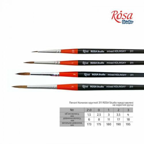 Колонок круглий 311 коротка ручка ROSA Studio