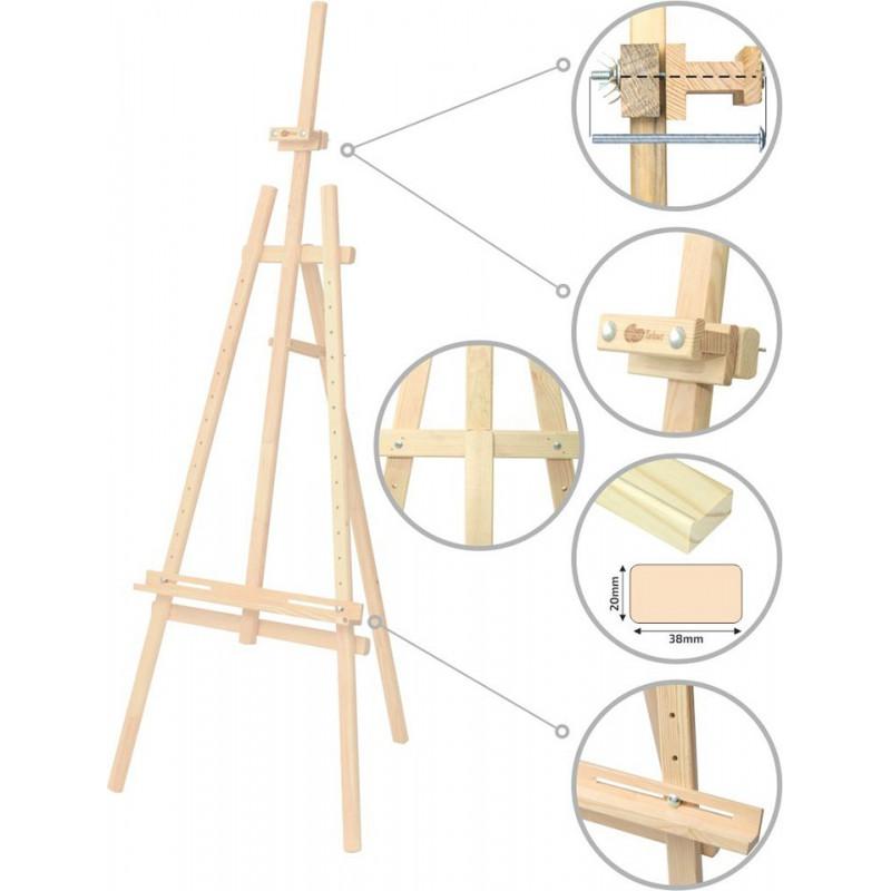 Studio easel №41, Lyra, pine, 71х80х170сm ROSA Studio