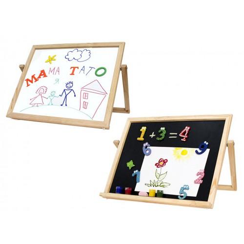 Easel table, magnetic (chalk + marker), 30x40cm, pine, ROSA Studio