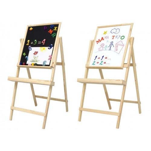 Easel, magnetic (chalk + marker), 40x50cm, pine, ROSA Studio