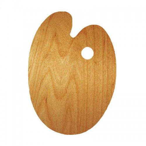 Oval oiled palette, 25x35cm, water-resistant veneer, ROSA Gallery