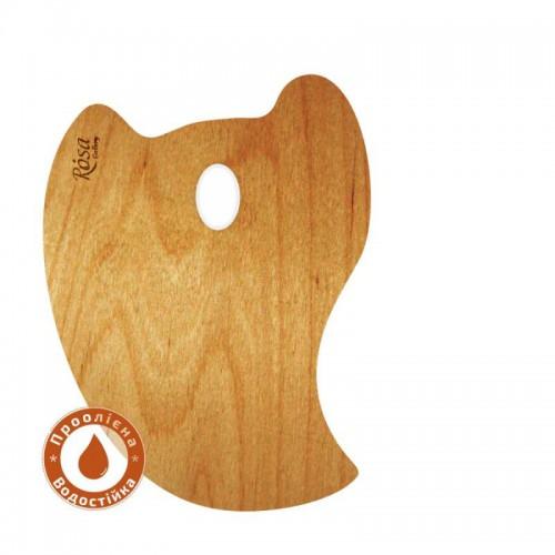 Палитра деревянная, перцевидная МОДЕРН, промасленная, ROSA Gallery