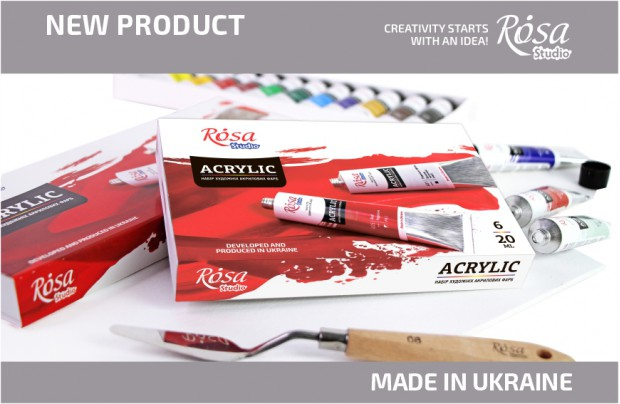 New: Renewal of ROSA Studio acrylic paint sets