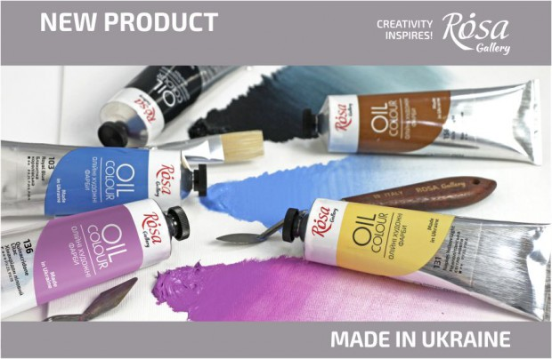 NEW: 5 new colors of oil paint ROSA Gallery in a tube 100 ml