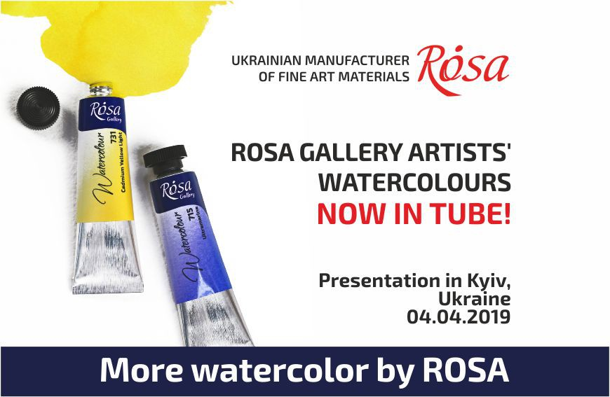 ROSA Gallery Artists' Watercolours now in TUBE!