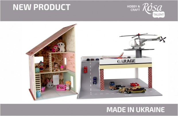 New: ROSA TALENT dollhouses and parking garages for children's rooms!