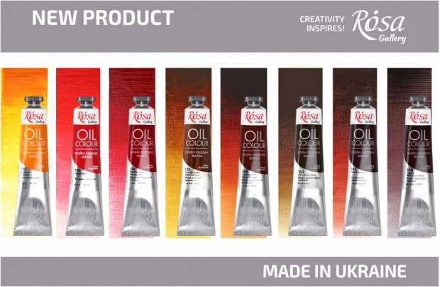 New: NEW 8 COLOURS of ROSA Gallery Artists' Oil Colours!
