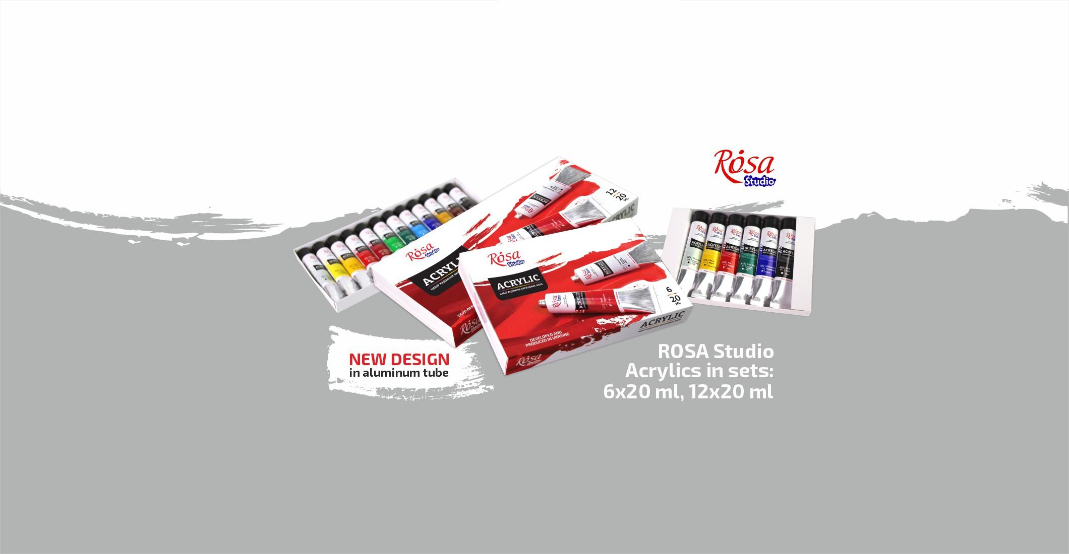 ROSA Studio Acrylics in aluminum tube
