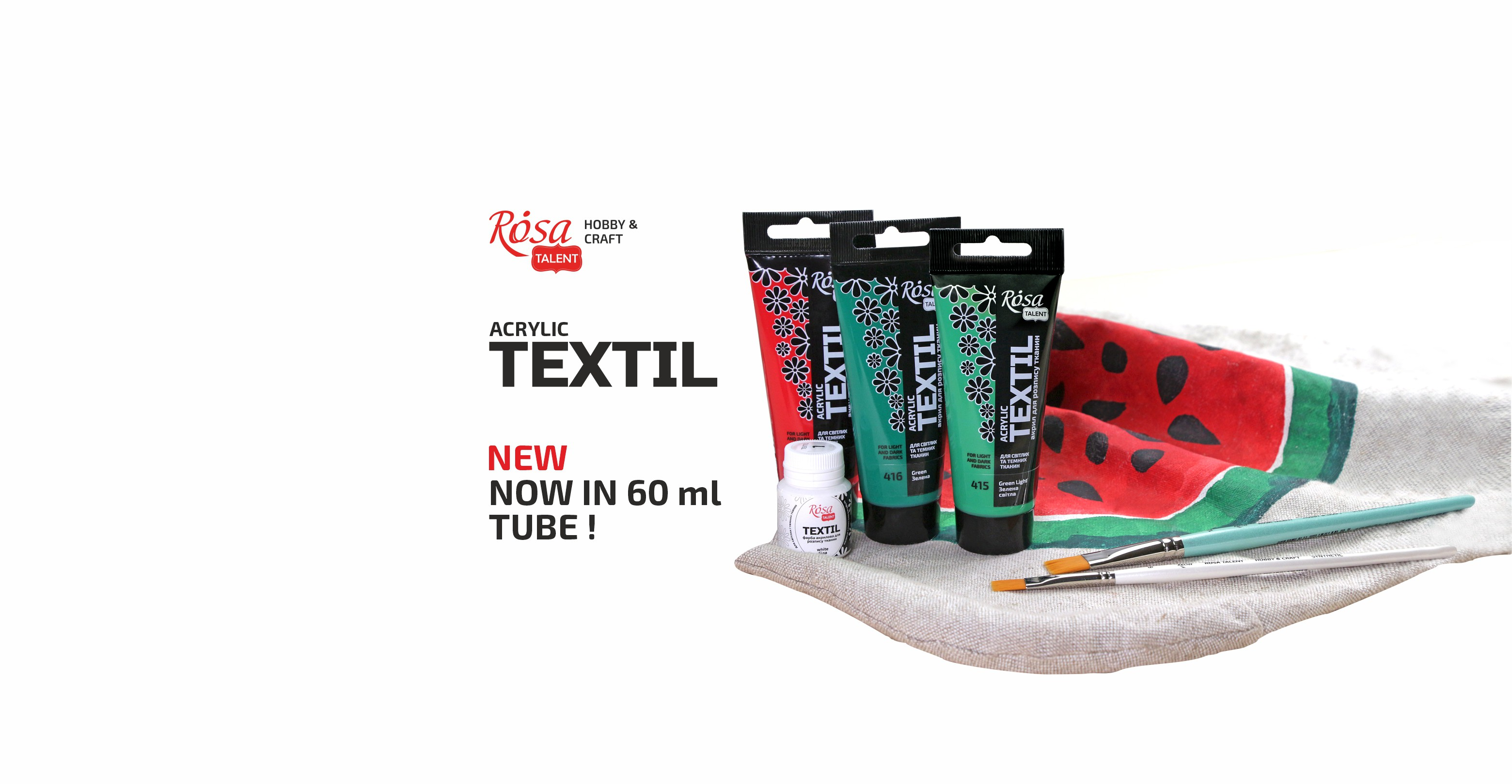 Acrylic paints for fabric from ROSA TALENT