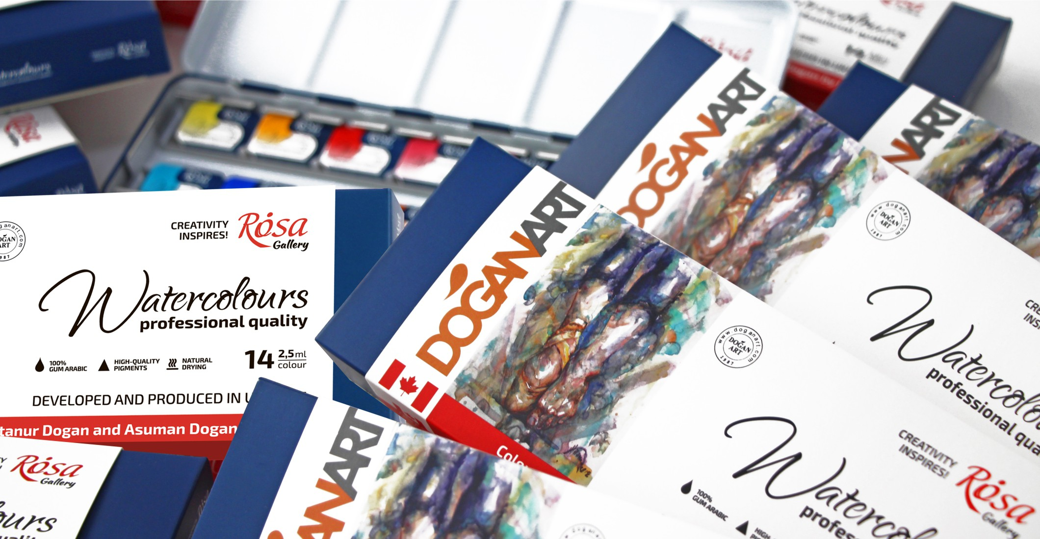 DOGANART&ROSA Professional Watercolour Set