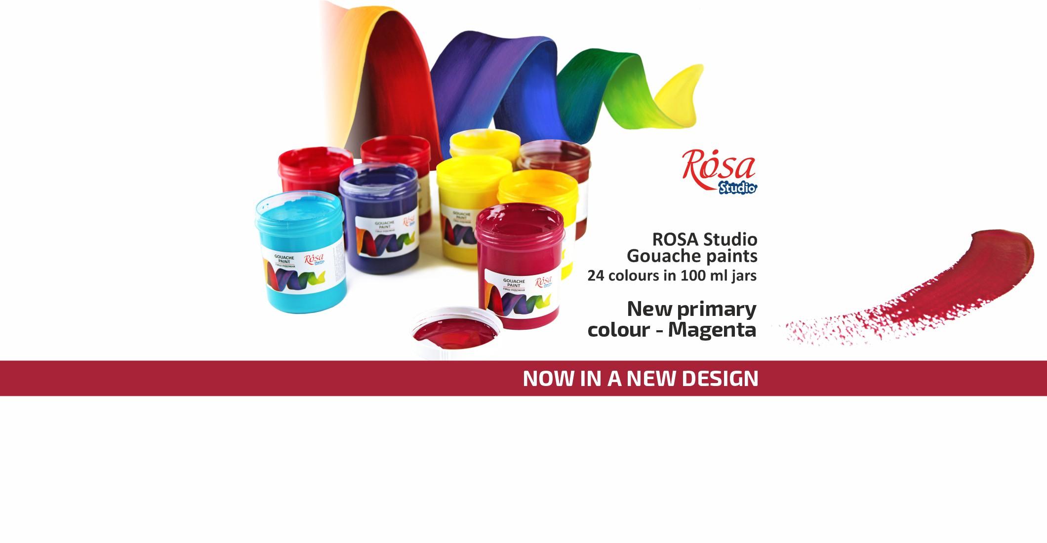 ROSA Studio Gouache paints in a new design